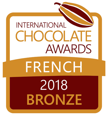 French Bronze medal for best milk chocolate praline 2018